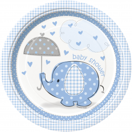 Umbrellaphants Blue Baby Shower 9
