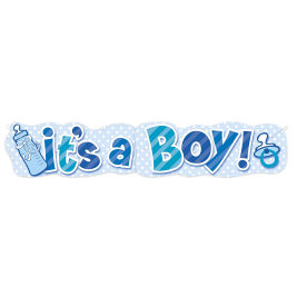 BOY BOTTLE GIANT JOINTED BANNER 4.5 FT.