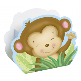 Boy Monkey Baby Shower FAVOR BOXES - pack of 8