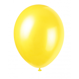 CAJUN YELLOW Pearlised balloons 12