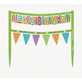 CAKE BANNER CITRUS DOT BIRTHDAY
