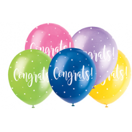 CONGRATS ASSORTED BALLOONS PACK OF 5