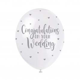 CONGRATULATIONS ON YOUR WEDDING BALLOONS PACK OF 5