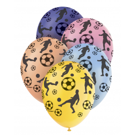 FOOTBALL PREMIUM PEARLISED ASSORTED COLOURS Balloons 12