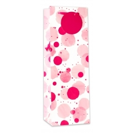 Pink Dots Bottle Bag - Matt (Sold in 6s)