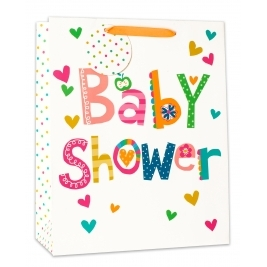 Medium Baby Shower Gift Bag Boy Girl Unisex Mum To Be Cute Gift Present Wrapping