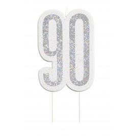 Black Glitz Number 90 Birthday Candle