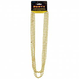Metallic Gold Bead Necklaces, Pack of 4