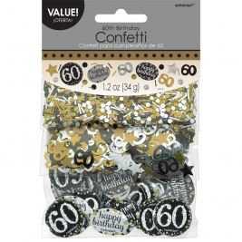Gold Sparkling Celebration 60th Confetti 34g
