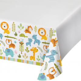 Happi Jungle Plastic Tablecover with Border 54