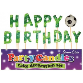 Happy Birthday Football Pick Candles
