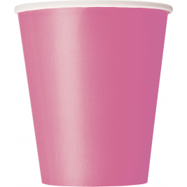 HOT PINK  9 OZ. CUPS - Pack of 14