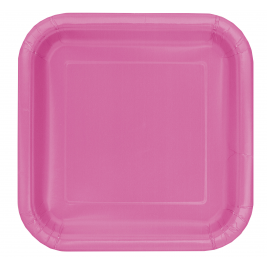 HOT PINK  Paper Tableware- 7