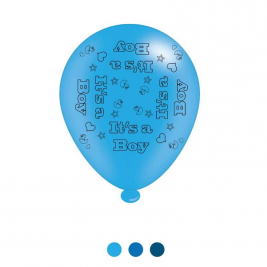 Its a Boy Latex Balloons (6 pks of 8 balloons)