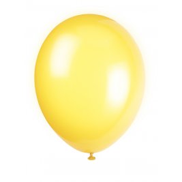 LEMON YELLOW Latex Balloons 12