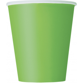 LIME GREEN   9 OZ. CUPS - Pack of 14
