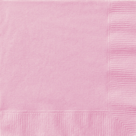 LOVELY PINK BEVERAGE NAPKINS - Pack of 20