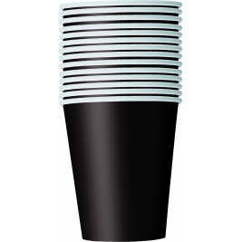 MIDNIGHT BLACK 9oz paper CUPS - Pack of 14