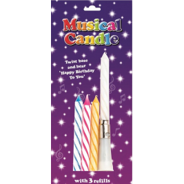 Musical Birthday Candles  - Assorted Colours