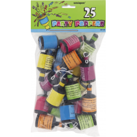 Party Poppers 25 Pack
