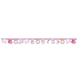 PINK CLOTHESLINE BABY SHOWER LARGE JOINTED BANNER