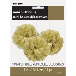 Gold Tissue Puff Decorations 9