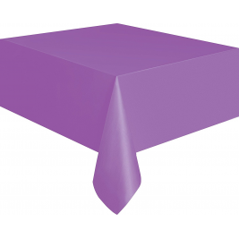 PRETTY PURPLE   PLASTIC TABLECOVERS 54