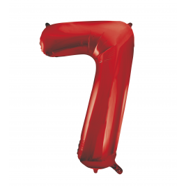Number 7 Giant Red Foil Balloon 34 Inches
