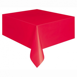 RUBY RED   PLASTIC TABLECOVERS 54