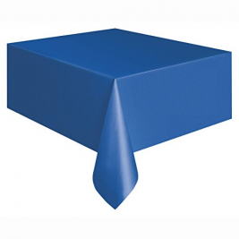 ROYAL BLUE PLASTIC TABLECOVERS 54