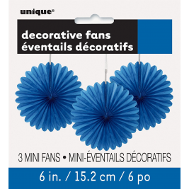 royal blue DECORATIVE  FANS