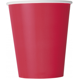 RUBY RED 9OZ paper CUPS - Pack of 14