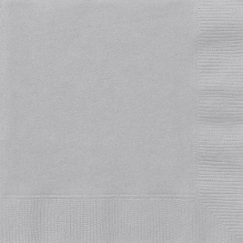 SILVER  LUNCHEON NAPKINS - Pack of 20