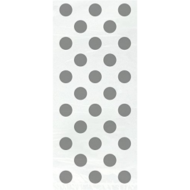 SILVER POLKA DOTS  Cello Bags  - Pack of 20