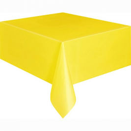 SUNFLOWER YELLOW Plastic Tablecover, 9ft x 4.5ft