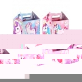 12 x Paper Lunch Box Unicorn Design Kids Childrens Party Bag Fillers Pinata Toys Present Picnic