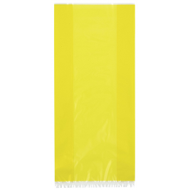 YELLOW SOLID COLOUR CELLO BAGS - pack of 30