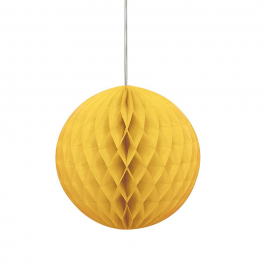 Yellow Hanging Decoration Honeycomb Ball